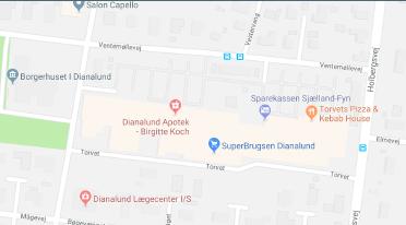 Find Dianalund Centret på google maps